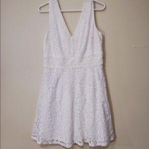 Francesca Laced White Dress